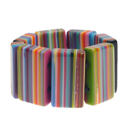 Jackie Brazil Pop Art Rectangle Bracelet in Liquorice mIx